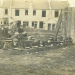 The outdoor firing point about 1911. Note the houses being built.
