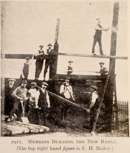 "Enthusiastic members, ""sans coats and waistcoats,"" discharged the duties of navvies, carpenters and engineers."